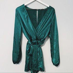 Beautiful Emerald Romper x Charlotte Russe